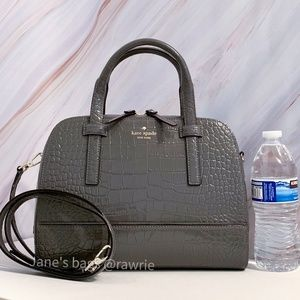 New Kate Spade Felix Croc Embosed Patent Leather